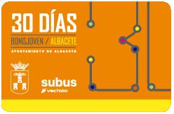 Bono Joven 30 días bus Albacete
