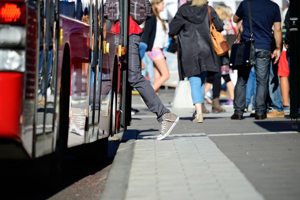 Usuarios de autobús en Albacete en 2015