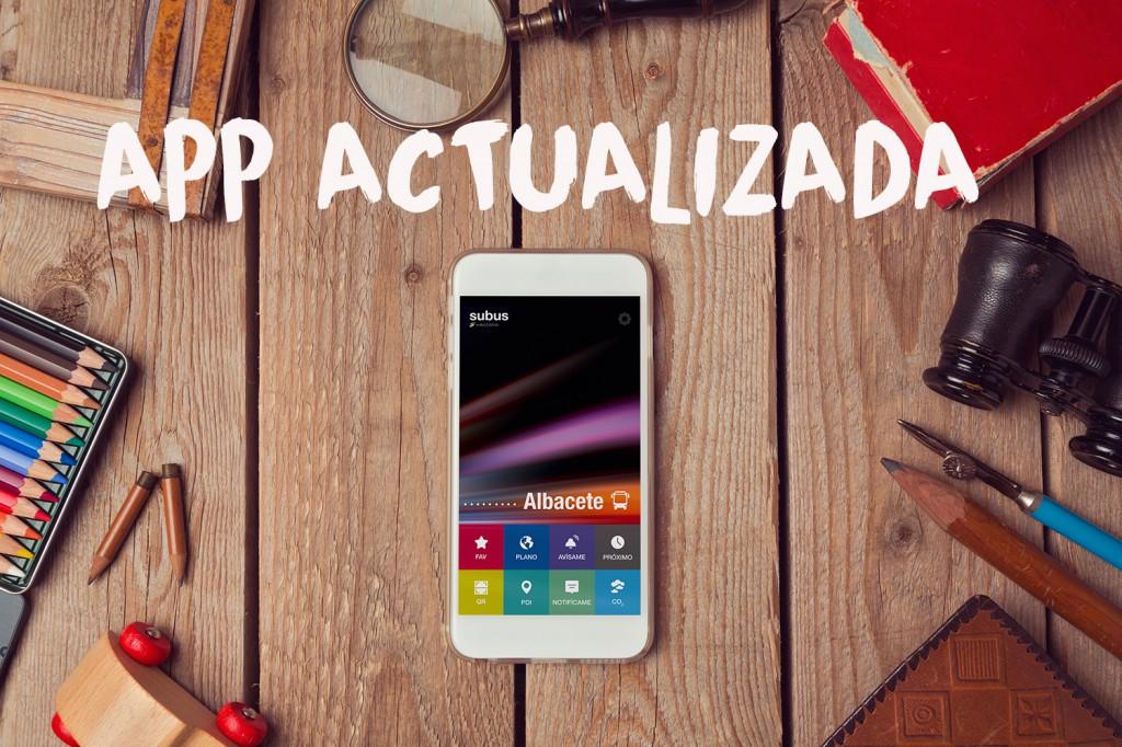 Actualización de la APP Subús Albacete