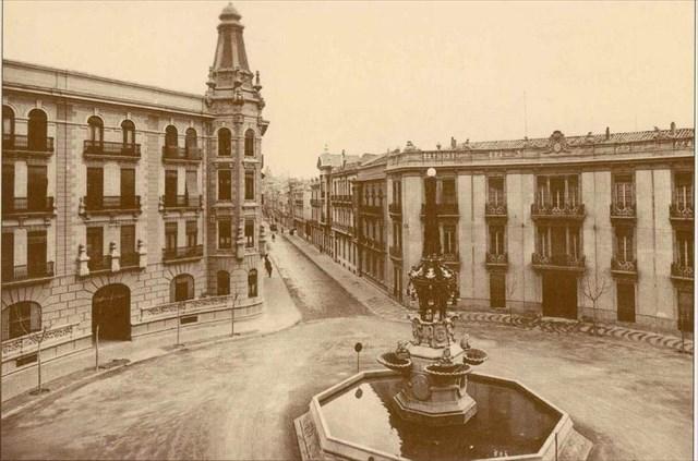 Fuente de las ranas en 1926