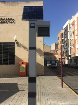 Nuevo Poste Solar del Transporte Urbano Albacete