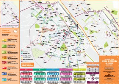 Mapa Lineas Transporte Urbano Albacete 2019
