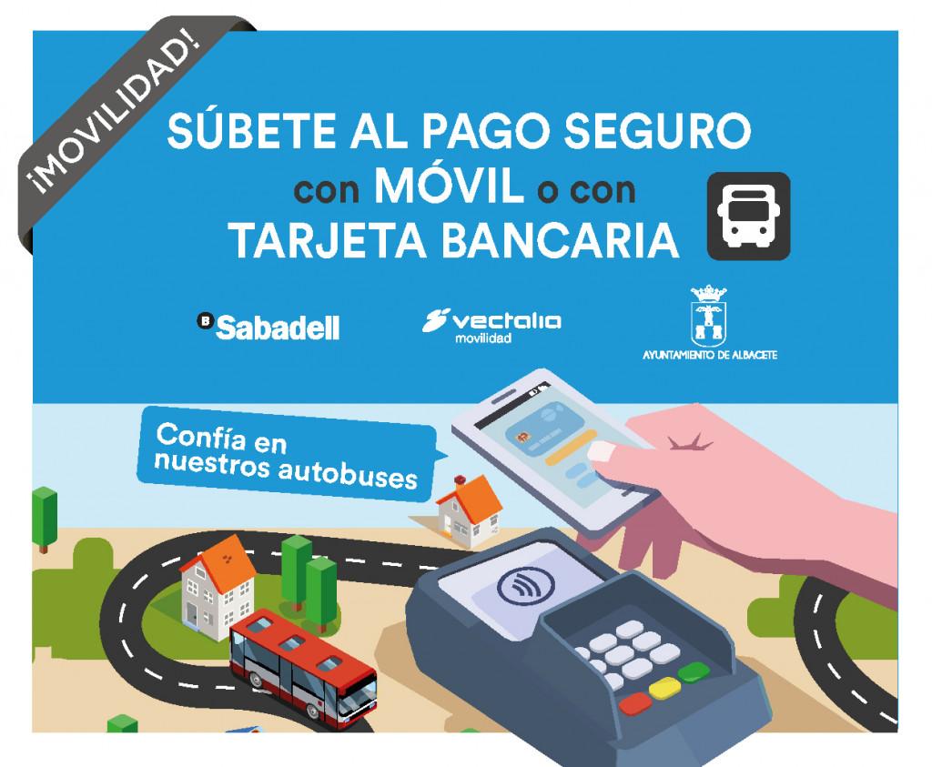 SUBETE AL PAGO SEGURO CON MOVIL O CON TARJETA BANCARIA